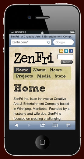 ZenFri Inc: iPhone Layout